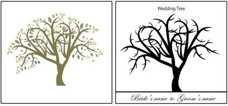 allfreevectors%20free%20colored%20vector%20tree thumb 450x209 3184 ウェディングツリーに使いたい!樹木のイラスト素材(ベクター素材)   Free Style