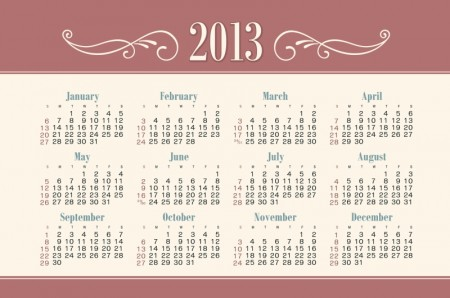 2013 Creative Calendar Collection design vector materia 01