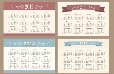 2013 Creative Calendar Collection design vector materia set