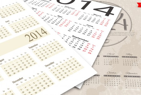 2014 sinple and vintage vector calender