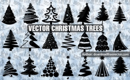 21-Vector-Christmas-trees-450x278