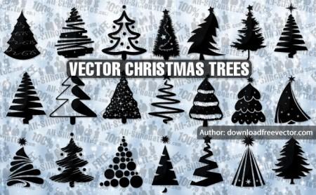 21 Vector Christmas trees