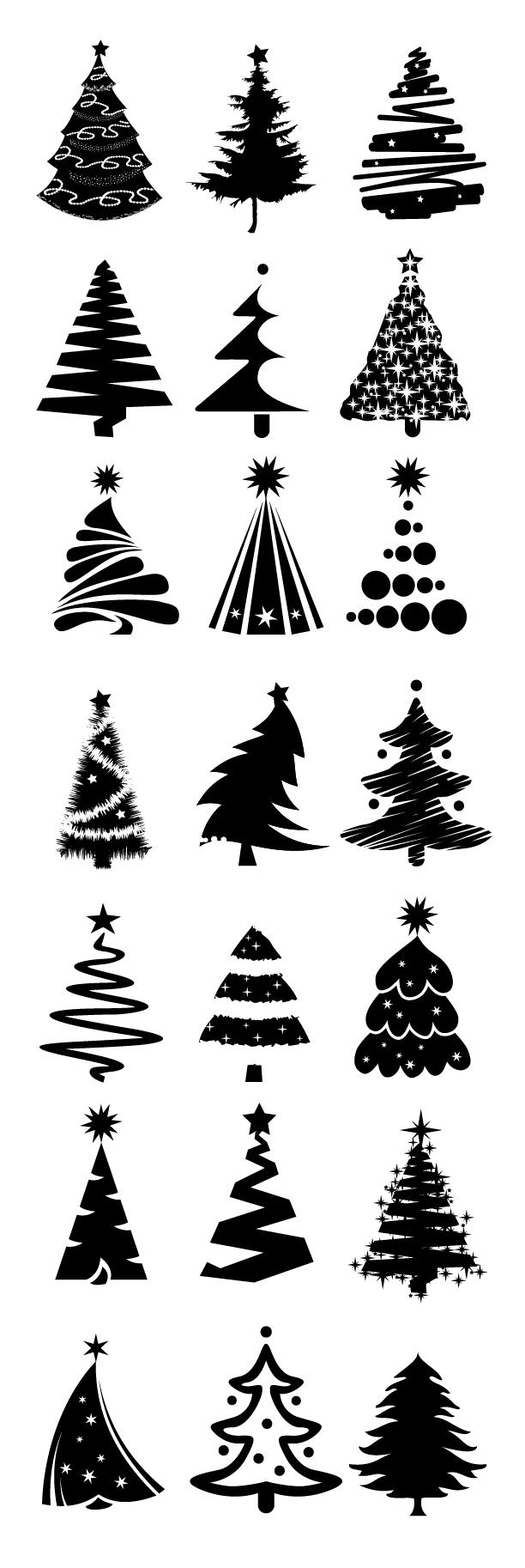 クリスマスツリー イラスト おしゃれ 手書き Paintschainer