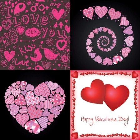 4-heart-shaped-Valentines-Day-Vector-450x448