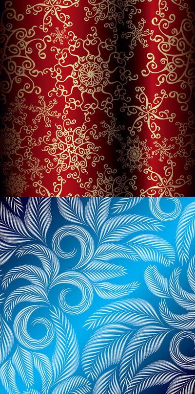 A-beautiful-Christmas-pattern-vector-material