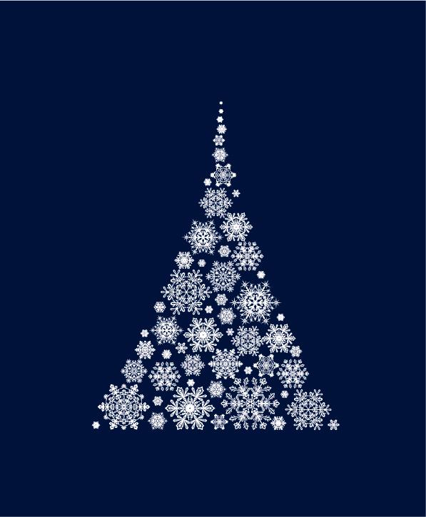 抽象的に描かれたオシャレなクリスマスツリー素材いろいろ(商用可・AI・EPS・SVG・CSH)