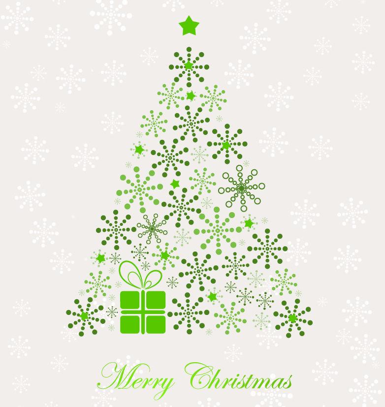 オシャレなクリスマスツリー. Abstract Christmas Tree Vector