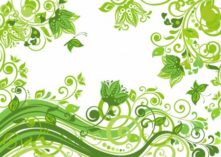 Abstract-Floral-Green-Background-Vector-Illustration-450x320