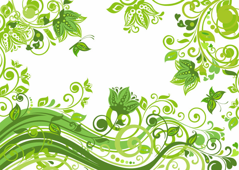 free green flower clipart - photo #50