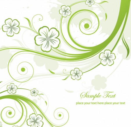 Abstract-Green-Floral-Swirls-Vector-Graphic-450x438