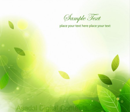 Abstract-Green-Leaves-Vector-Background-450x389