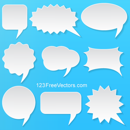Abstract-Vector-White-Speech-Bubbles-Set-450x450