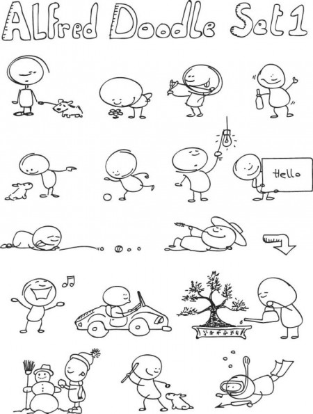 Alfred_Doodle_Set1_by_Allonzo_Inc-450x595