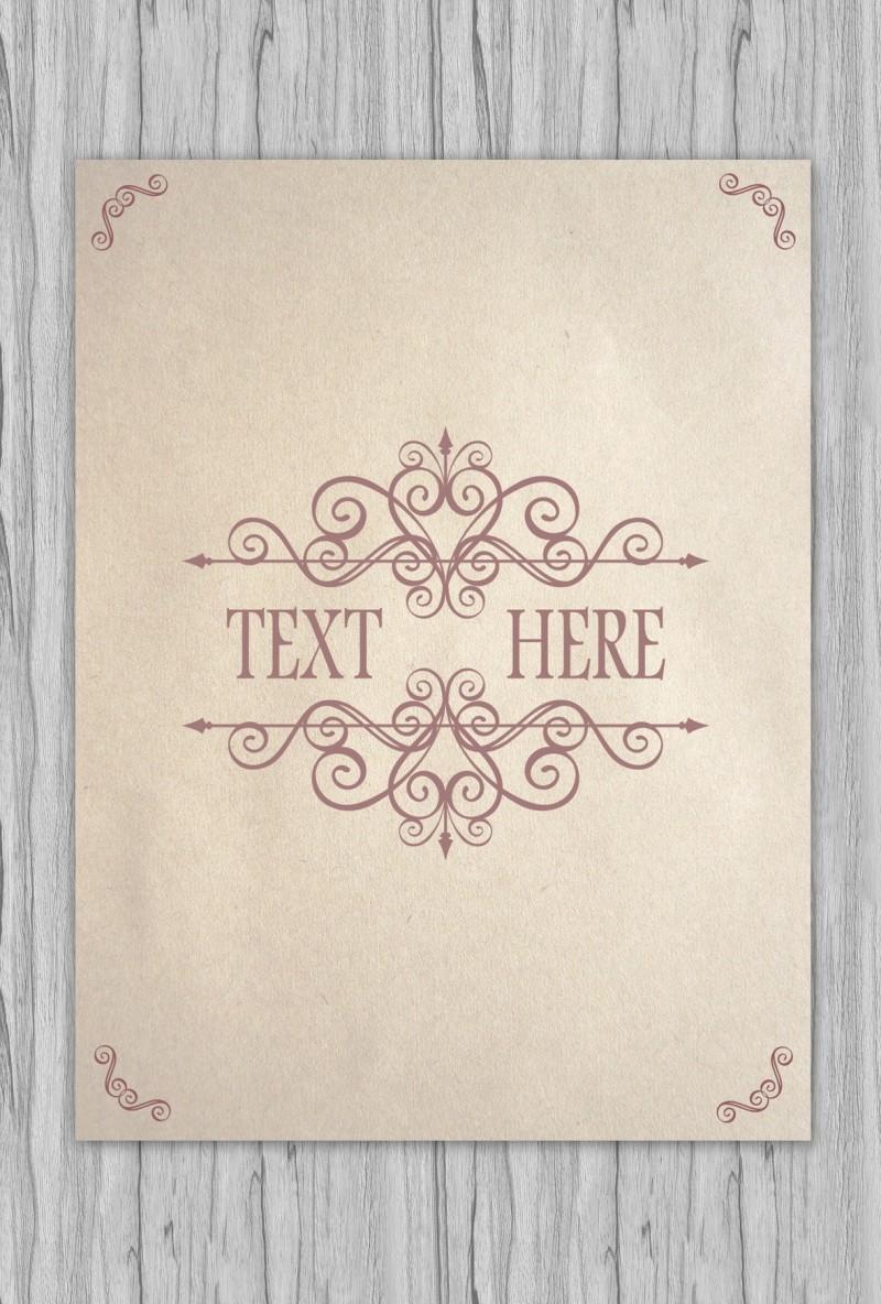 アンティークでおしゃれなカード作りに!無料のベクターフレーム素材