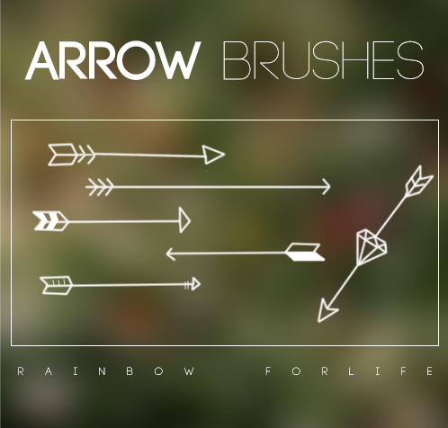 Arrows Brushes by raibowforlife on deviantART