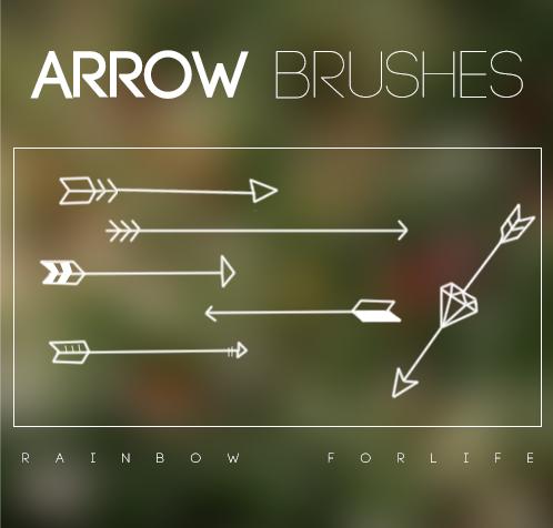 Arrows-Brushes-by-raibowforlife-on-deviantART