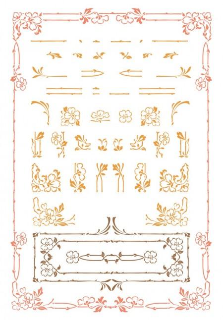 Art-Nouveau-Floral-Vector-Set-450x646