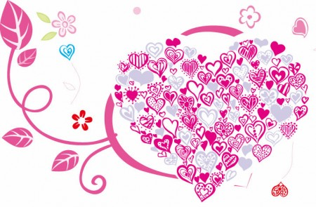 Beautiful-Heart-with-Floral-Ornament-450x295