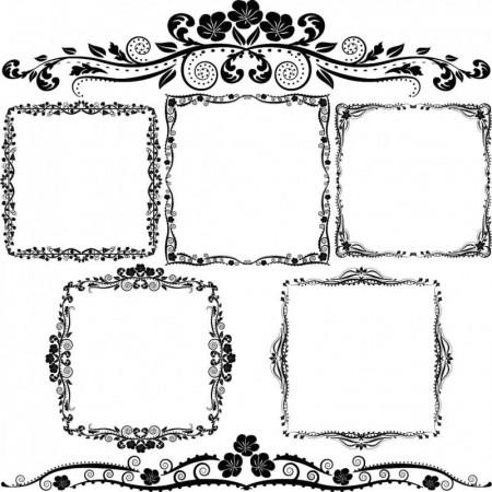 Beautiful-border-pattern-vector-material04_inlazy.com_-450x450