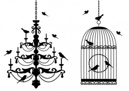 Birdcage theme vector Vector misc 02