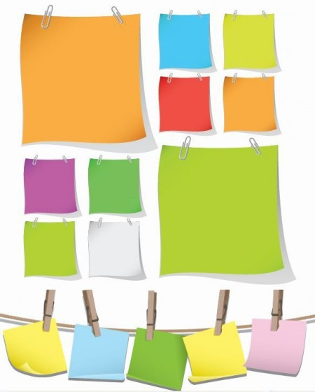 Blank-Colorful-Papers-with-Clip-Vector-Graphic-450x560