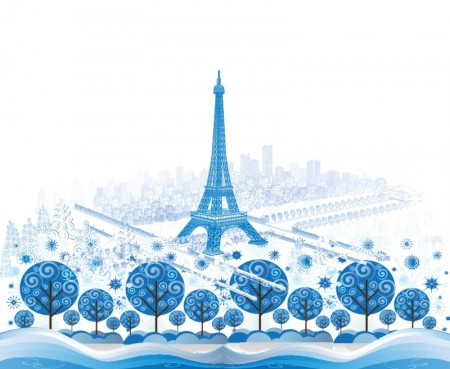 Blue-Paris-Vector-Background-Design-450x369