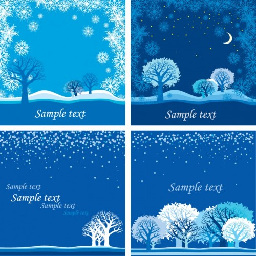 Bright-Winter-Snow-backgrounds-art-vector-01-500x500