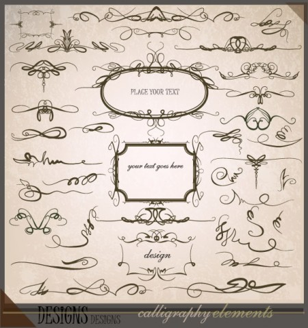 Calligraphic-Design-Elements1-450x479