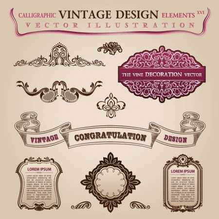 Calligraphic-vintage-design-elements-vector-set-5-5-450x449