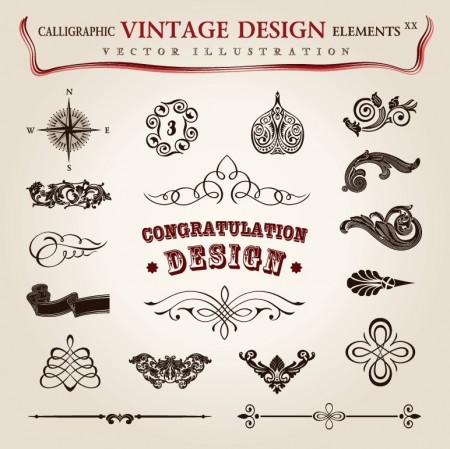 Calligraphic-vintage-design-elements-vector-set-5-8-450x449