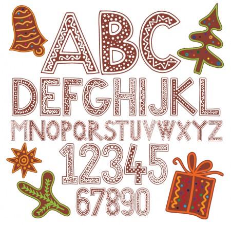 Cartoon-Christmas-Alphabet-Vector