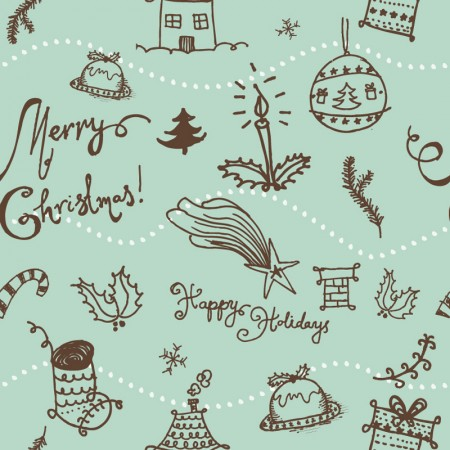Christmas Seamless Pattern Vector Graphic