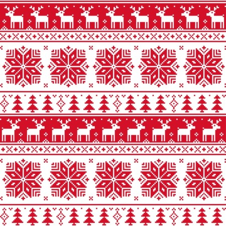 Christmas patterns vector set 03