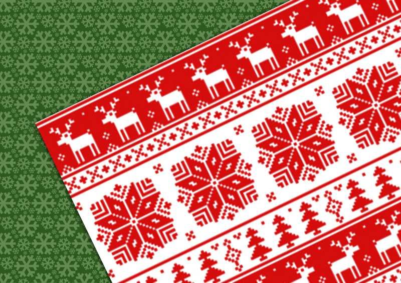 クリスマス用シームレスパターン素材いろいろ商用可ありaiepspat