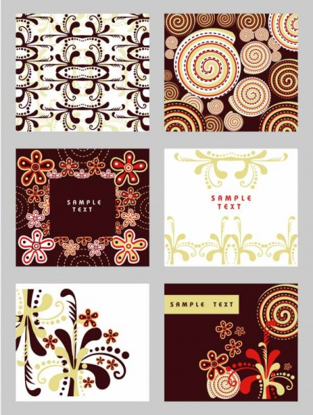 Classic floral Background eps vector 01