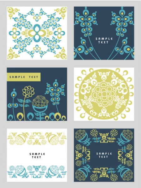 Classic floral Background eps vector 02
