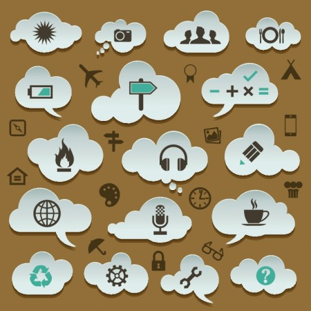 Cloud storage design elements vector 01