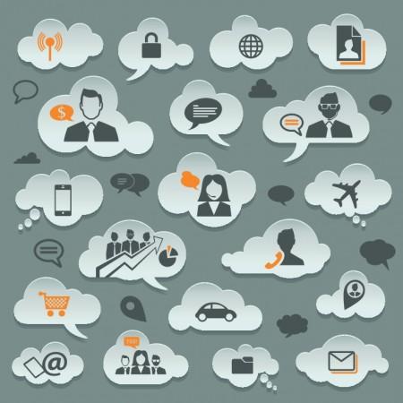 Cloud storage design elements vector 02