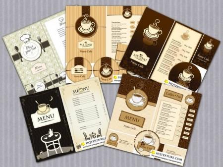 Coffee Menu Cards Vector