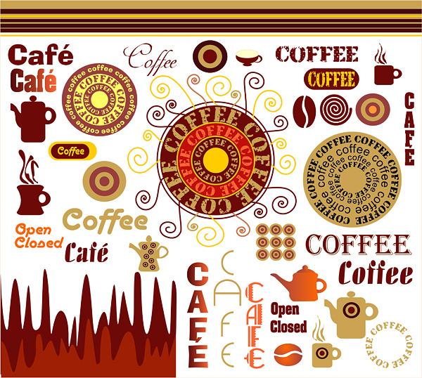 カフェ喫茶の手作りメニューにカップなどクリップアートいろいろ