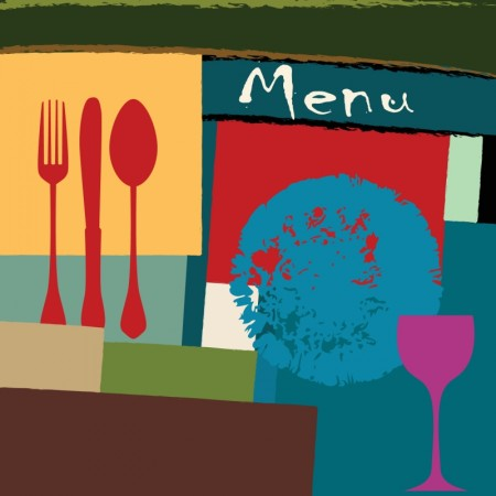 Color menu covers for restaurants vector (3)