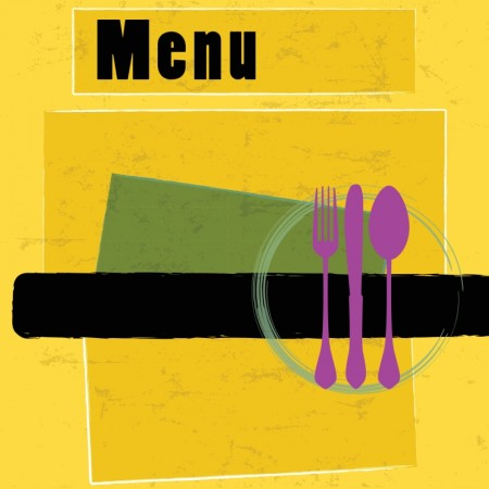 Color menu covers for restaurants vector (4)