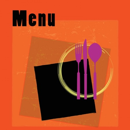 Color menu covers for restaurants vector (5)