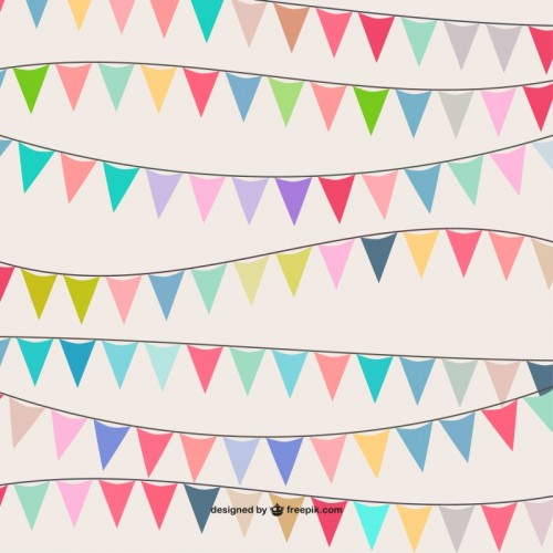 Colorful garland pattern Vector