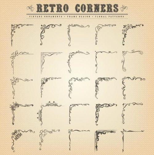 Corner-vintage-ornament-vectors-01-500x505