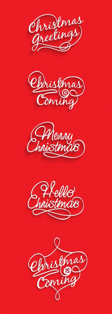 Creative Christmas text logos vector