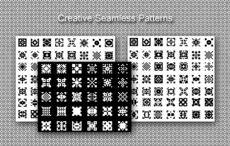 Creative Seamless Patterns set