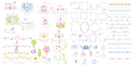Cute-lace-Frames-and-Borders-vector-set-450x228