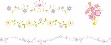 Cute-lace-Frames-and-Borders-vector-set01-450x184