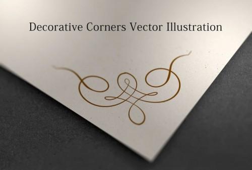 Decorative Corners Vector Illustration